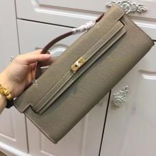 YSL Tassel Chain Bag 22cm Smooth Leather Black Silver