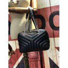 YSL Chain Handbag 27cm Black