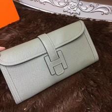 Hermes Epsom Leather Jige Clutch 29cm Grey