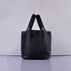 Hermes Calf Leather 8616 Handbag Black