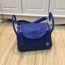 Hermes Lindy 30cm Handbag Electric Blue Silver