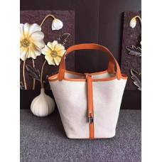 Hermes Picotin Lock Canvas Orange