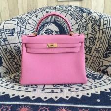 Hermes Kelly 28cm Bag Togo Leather Pink Gold