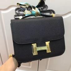 Hermes Constance Bag 23cm Epsom Leather Black Gold