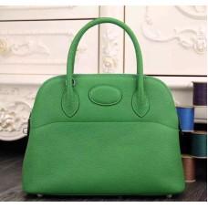 Hermes Bolide 31cm Togo Leather Green Bag
