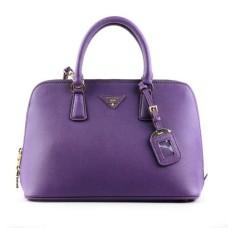 Prada 0812 purple cross pattern tote bag