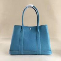 Hermes Garden Party Handbag Small 31cm Blue