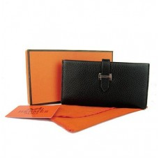 Hermes calf leather Wallet H005 black