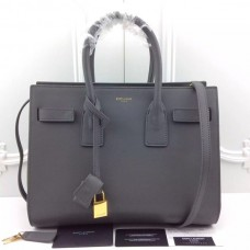 YSL Grey Downtown Tote Cow Leather Bags