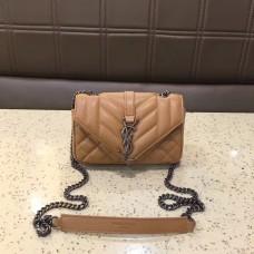 YSL Small Envelop Shoulder Bag 17cm Apricot