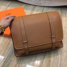 Hermes Steve Men Crossbody Leather Bag Brown