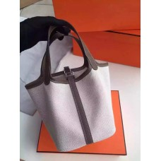 Hermes Picotin Lock Canvas Dark Grey