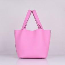 Hermes Calf Leather 8616 Handbag Cherry Pink