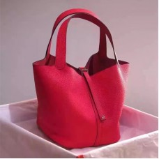 Hermes Picotin Lock Togo Leather Red