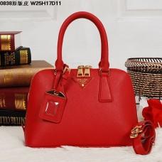 Prada 0838 Tote Bag Red