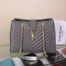 YSL Saint Laurent Monogram Shopping Bag Grey