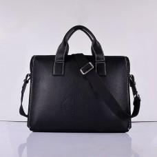 Hermes Calf Leather 8078 Handbag Black Silver