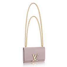 Louis Vuitton M42627 Chain Louise MM Crossbody Bag Calfskin Leather