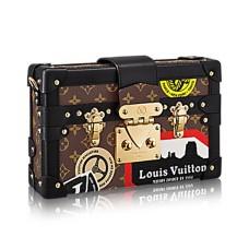 Louis Vuitton M43229 Petite Malle World Tour Crossbody Bag Monogram Canvas