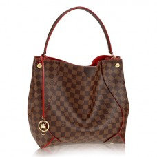 Louis Vuitton N41555 Caissa Hobo Bag Damier Ebene Canvas